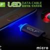 สาย Micro USB Date Sync Charge GOLF LED