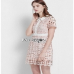 Lace Mini Dress Lady Ribbon มินิเดรสผ้าลูกไม้