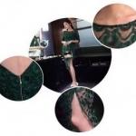 ชุดเดรสแฟชั่น เรียบหรูโทนสีเขียว เนื้อผ้าสวยเกรดดี