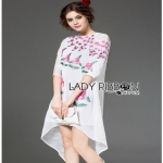 Lady Ribbon Sweet Pinky English Roses Embroidered Dress