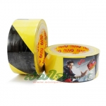 nuvo เทป PVC ตีเส้นพื้น สีเหลืองสลับดำ (48mm x 33m)