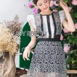 Mini Dress Lady Ribbon เดรสผ้าลูกไม้