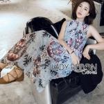 Lady Ribbon Maxi Dress ขายเดรสยาว
