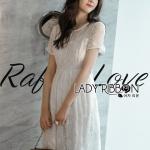 Lace Dress Lady Ribbon ขายเดรสยาว
