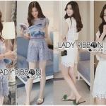 Lady Ribbon Online ขายส่งเสื้อผ้าออนไลน์ Lady Ribbon พร้อมส่ง LR19040816 &#x1F380 Lady Ribbon's Made &#x1F380 Lady Jessie Minimal Feminine Lace Sleeveless Top and Lace Shorts Set เซ็ตเสื้อแขนกุด