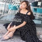 Lady Ribbon Layered Cotton Dress