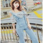 Lady Ribbon Jumpsuit Camisole ขายเซ็ตเสื้อสายเดี่ยว