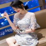 Lady Ribbon Tulle Cocktail Dress ค็อกเทล