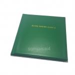 สมุดสะสมธนบัตร SJ ปกสีเขียว