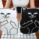 เคสซิลิโคน แมวดำ แมวขาว (เคส iPad Air 2)