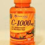 Sale!! EXP : 2/2018 Vitamin C-1000 mg. 100 Caplets with Rose Hips and Bioflavonoid วิตามินซี 1,000 มก. 100 เม็ด ช่วยบำรุงผิว กระจ่างใส เสริมสร้างภูมิคุ้มกัน จาก Vitamin World