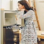 Lady Ribbon Lace Dress ขายเดรสผ้าลูกไม้
