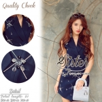 Navy Beauty Stylish Eelgant Dress