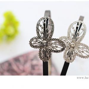 N1107 - Hair Accessories,ที่คาดผม,เครื่องประดับผม,กิ๊ปติดผม,เครื่องประดับ diamond bow hair bands