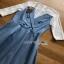 Lady Ribbon Denim Mini Dress ขายมินิเดรสเกาะอก thumbnail 6