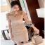 Lady Ribbon Chic gold Lace Mini Dress thumbnail 2