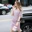 Lady Ribbon Online เสื้อผ้าออนไลน์ ขายส่ง normal ของแท้ NA08140716 &#x1F389Normal Ally Present embroider crystal neck elegant dress thumbnail 3