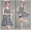 Lady Ribbon Online ขายส่งเสื้อผ้าออนไลน์ ขายส่งของแท้พร้อมส่ง Lady Ribbon LR21250716 &#x1F380 Lady Ribbon's Made &#x1F380 Lady Jennifer Summery Pretty Daisy Embroidered Plaid Dress สำเนา thumbnail 1