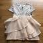 Lady Ribbon Layered Old-Rose Silk Dress ขายส่งเดรสผ้า thumbnail 7
