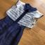 Lady Ribbon Lace and Silk Playsuit เพลย์สูทขาสั้น thumbnail 5