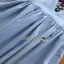 Blue Denim Dress Lady Ribbon เดรสผ้าเดนิม thumbnail 6