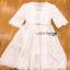 White Lady Ribbon Cotton Dress ขายเดรสผ้าคอตตอน thumbnail 8