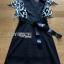 Leather Belt Lady Ribbon ขายเดรสผ้าเครปสีดำ thumbnail 7