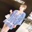 Lady Ribbon Crepe Blouse เสื้อผ้าเครปสีoff white thumbnail 2