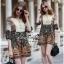 Lady Ribbon Online ขายส่งเสื้อผ้าออนไลน์ Very very pretty เสื้อผ้า VP05100816 Smart Vintage community Printed Blouse thumbnail 1