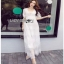 White Lace Maxi Dress Lady Ribbon เดรสยาว thumbnail 1