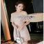 Lady Ribbon Nude Lace Playsuit เพลย์สูทสีชมพู thumbnail 1