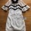 Lady Ribbon Mini Dress เดรสผ้าลูกไม้สีขาว-ดำ thumbnail 6