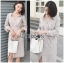 Cotton Shirt Dress Lady Ribbon ขายเชิ้ตเดรส thumbnail 1