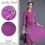 2Sister Made, Purple Beauty Set Comfortable Style Adorn With Cuties Pearl เซ็ตเสื้อ+กระโปรงใส่เข้าชุดกัน thumbnail 2