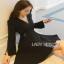 Lady ribbon Black Dress with Metal Ring thumbnail 3