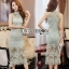 Lady Ribbon Pastel Lace Body Con Dress thumbnail 2