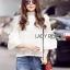 Lady Ribbon White Lace Blouse เสื้อผ้าลูกไม้ thumbnail 4