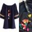 Normal Ally Present Korea rope pin style dress&#x1F389 (เดรส, แต่งเชือกตุ้มเม้งสลับสี) thumbnail 7