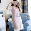 Lady Ribbon Jane Pure Elegant Pink Lace Over Pleated Chiffon Dress thumbnail 4
