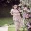 ผ้าออกัลซ่าแต่งดอกไม้ 3D thumbnail 2