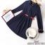 เสื้อผ้าแฟชั่นเกาหลีเดรสลุคเรียบหรู เนื้อผ้าโพลีเกรดดี thumbnail 4