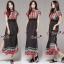 Lady Ribbon Online ขายส่งเสื้อผ้าแฟชั่นออนไลน์ เสื้อผ้า Normal Ally NA15080816 &#x1F389Normal Ally Present Bohemian prince style summer maxi dress&#x1F389 thumbnail 1