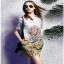 Chinese Style Printed Shirt Dress Lady เชิ้ตเดรส thumbnail 4