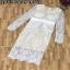 พร้อมส่งชุด Dress เนื่อผ้าลูกไม้เนื้อนิ่มงานเกรดพรีเมียม thumbnail 6