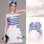 Lady Ribbon Online เสื้อผ้าออนไลน์ขายส่ง Normal Ally เสื้อผ้า,NA03220816 &#x1F389Normal Ally Present summer cloud print casual dress&#x1F389 (เดรส ,ซับในอย่างดีทั้งชุด) thumbnail 5