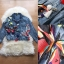 NA09290816 &#x1F389Normal Ally Present. Denim Butterfly and Japanese silk loop flower decorate Jacket&#x1F389 (เสื้อแจคเก็ตยีนส์ , แต่งปักผีเสื้อผ้าโปร่งและตุ้มดอกไม้, พู่ไหมญี่ปุ่น) thumbnail 7