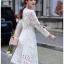 White Lace Dress Lady Ribbon ขายเดรสผ้าลูกไม้ thumbnail 2
