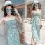 Lady Ribbon Online เสื้อผ้าแฟชั่นออนไลน์ขายส่ง เลดี้ริบบอนของแท้พร้อมส่ง sevy เสื้อผ้า SV07240716 &#x1F389Sevy Stick Stripes Off Shoulder Jumpsuit (+Belt) Type: Jumpsuit thumbnail 4