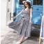 Chic Ruffle Checked Lady Ribbon Cotton Dress thumbnail 3