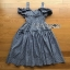 Chic Ruffle Checked Lady Ribbon Cotton Dress thumbnail 6